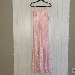 Morgan and Co pink sparkly evening gown